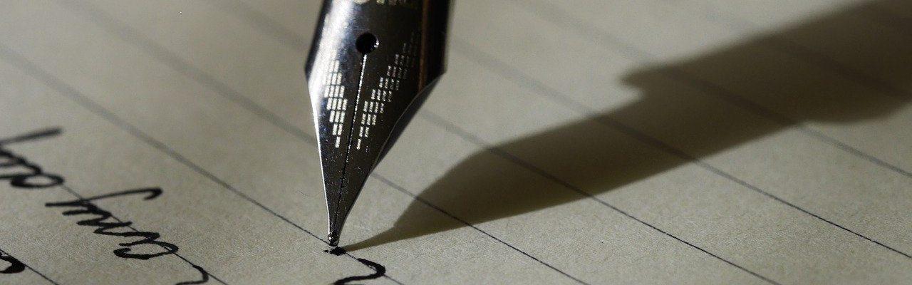 Met een vulpen schrijven hoe doe je dat